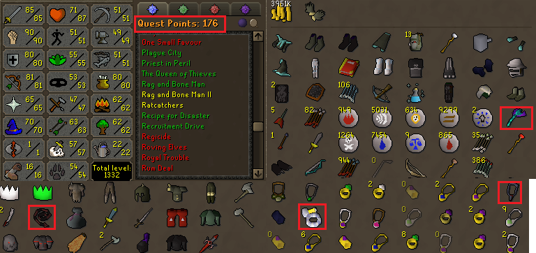 OSRS account combat level 106  ID#20190904LW106