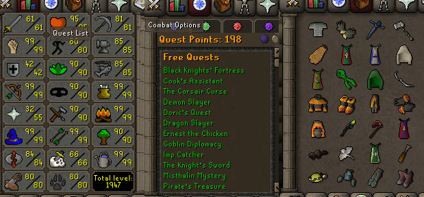 OSRS account combat level 93 ID#20200730LWSB93
