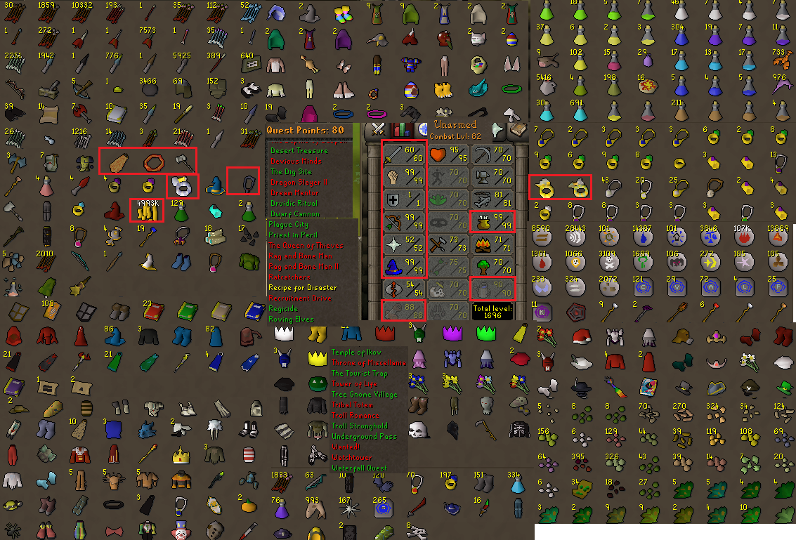 OSRS account combat level 82 ID#20200222LWSB82