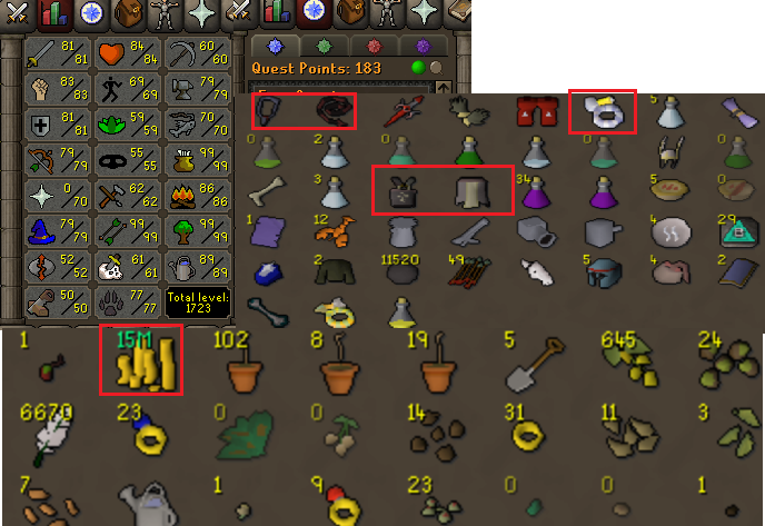 OSRS account combat level 103 ID#20190609LW103