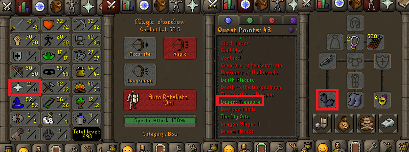 OSRS special pure account combat level 58 ID#20190609CKJ58