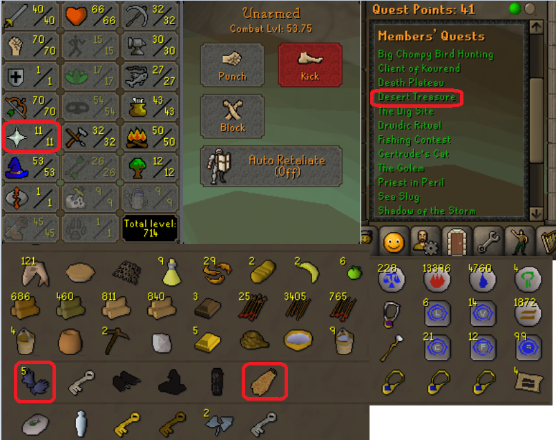 OSRS account special pure combat level 53 ID#20181227CKJ53
