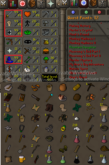 OSRS account Combat Level 115 ID#20191125LW115