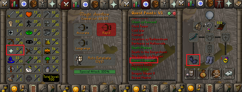 OSRS account special pure combat level 60 ID#20181207CKJ60
