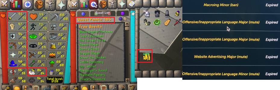 OSRS account combat level 119  ID#20200709LWSB119