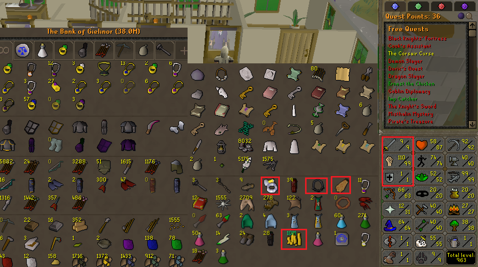 OSRS obby pure account combat level 60 ID#20200327LWSB60