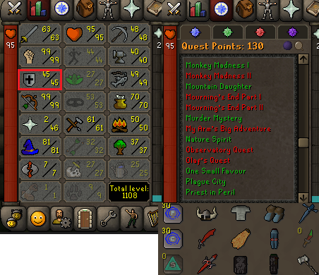 OSRS account combat level 93 ID#20200506SB93