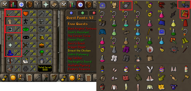 OSRS account combat level 61 ID#20200529SB61