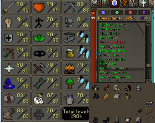OSRS account combat level 117 ID#20201007LW117