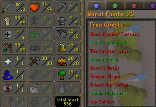 OSRS Account Combat Level 72 ID#20191130SB72
