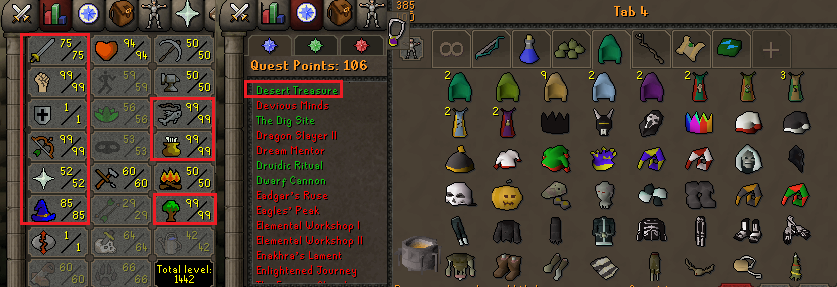 OSRS account combat level 86 ID#20200115LW86