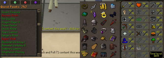 OSRS account combat level 114 ID#20200620LW114