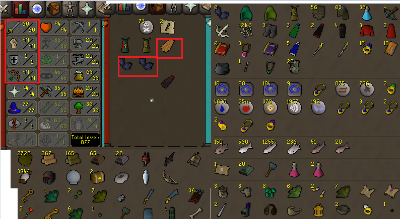 OSRS account combat level 80 ID#20200815SB80
