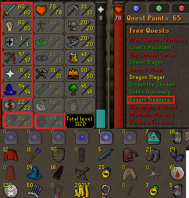 OSRS account combat level 73 ID#20200507SB73