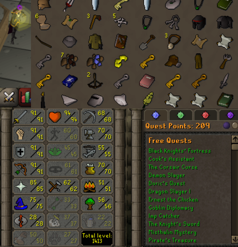 OSRS account combat level 115 ID#20201125SB115