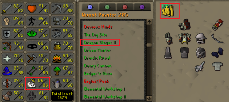 OSRS account combat level 107 ID#20190917LW107