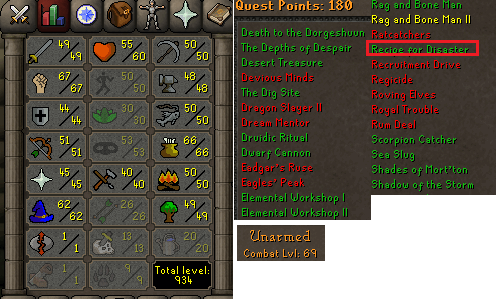 OSRS account Combat Level 69 ID#20200912TD69A best sale