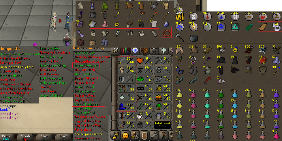 OSRS account combat level 80 ID#20200331LWSB80