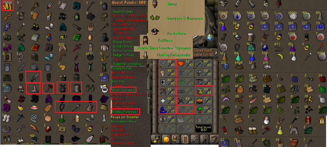 OSRS account combat level 112 ID# 20190202SB112