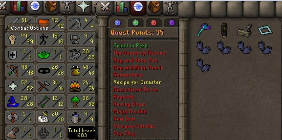 OSRS account combat level 78 ID#20200812SB78