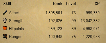 OSRS account combat level 78 ID#20190723TD78
