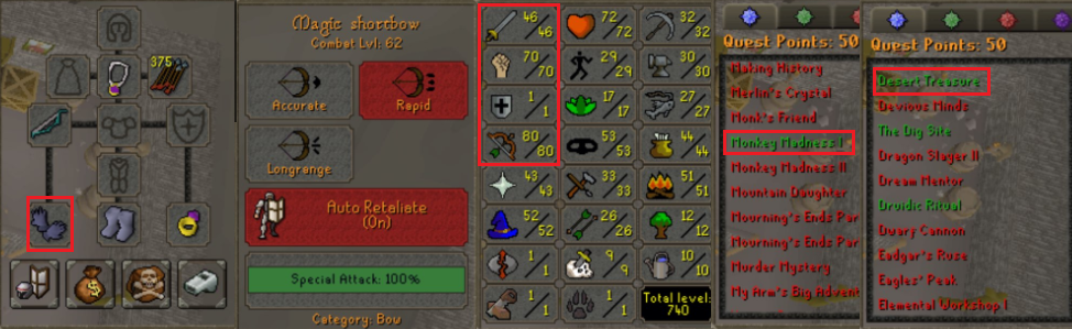 OSRS account special pure combat level 62 ID# 20190718CKJ62