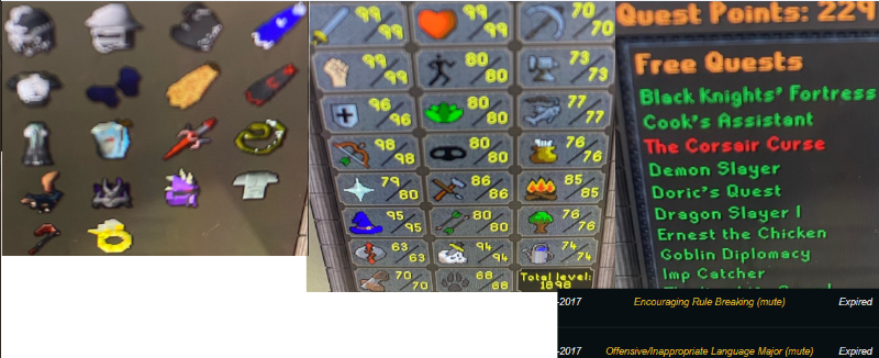 OSRS account combat level 123 ID# 20190523LW122SB