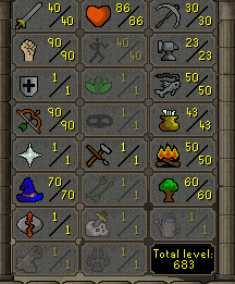 OSRS account combat level 65 ID#20181231TD65