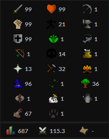 OSRS account Combat Level 115 ID#20190715TD115