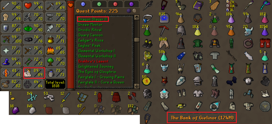 OSRS account combat level 117 ID#20200630LW117