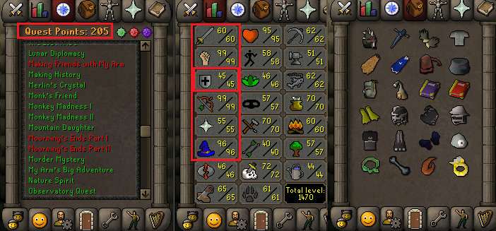 OSRS account combat level 93 ID# 20190315LW93