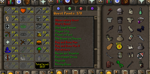OSRS account combat level 121 ID#20200111LW121