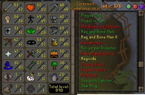 OSRS account Combat Level 66 ID#20181104TDRFD4 best sale