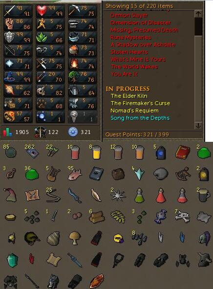 RS 3 Account Combat Level 122 ID#20181013SWK122