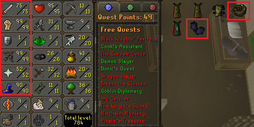 OSRS account combat level 87 ID#20190902LW87