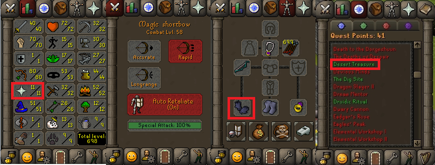 OSRS account special pure combat level 58 ID#20190305CKJ58
