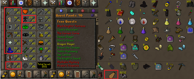 OSRS account combat level 80 ID#20190628LW80
