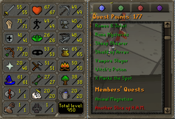 OSRS account Combat Level 72 ID#20190809SB72 best sale