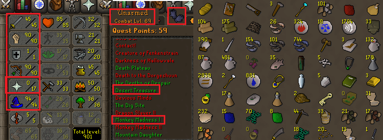 OSRS account special pure combat level 69 ID#20200509MM69B