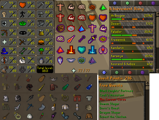 OSRS account combat level 123 ID# 20190421LWSB123
