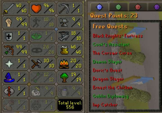 OSRS account combat level 71 ID# 20191205TD71B