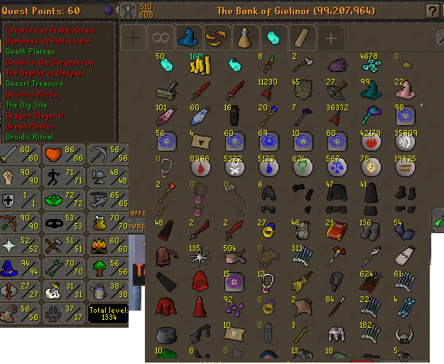 OSRS account combat level 77 ID#20200721SB77