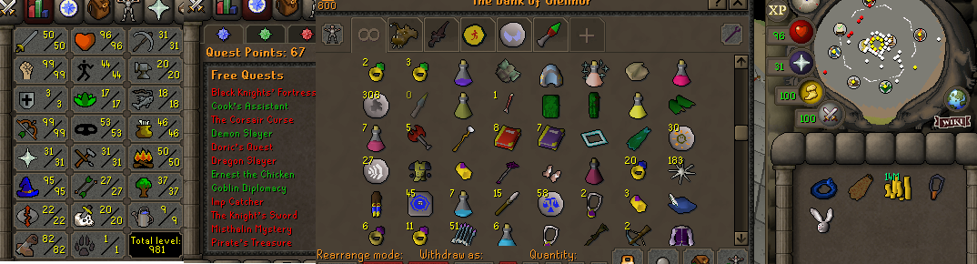 OSRS account combat level 76 ID#20201027SB76