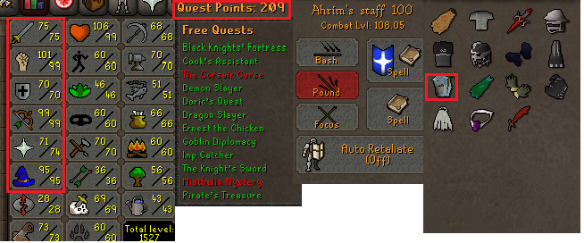 OSRS account combat level 108 ID#20191223SB108