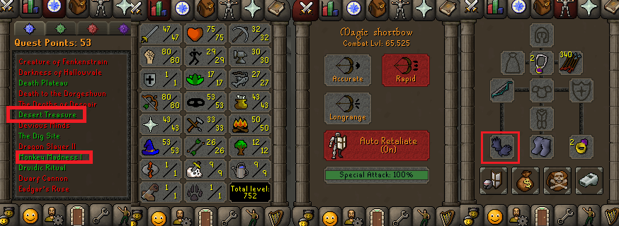 OSRS account special pure combat level 65 ID# 20190311CKJ65