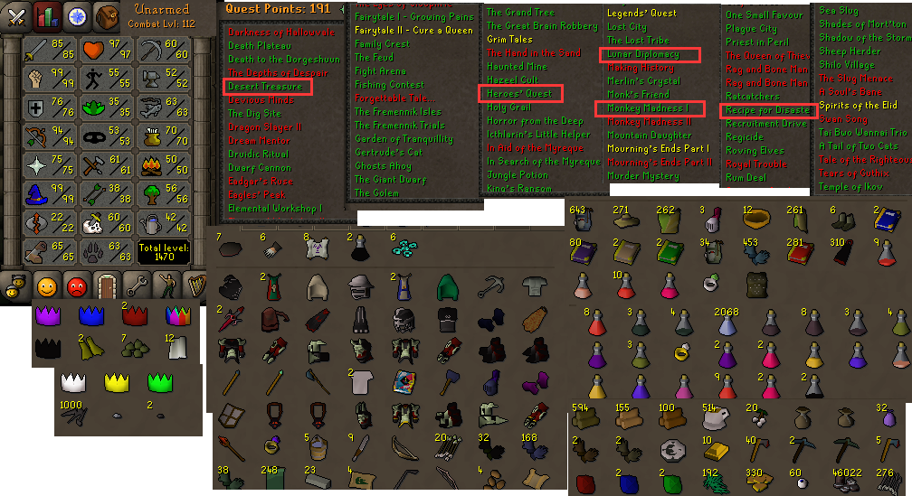 RS Account - Runescape 2007 Account
