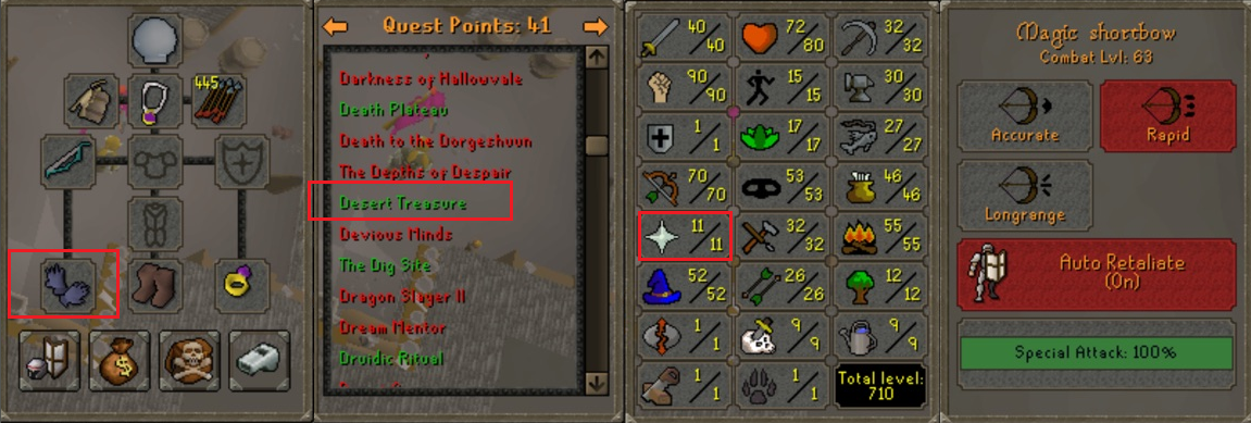 OSRS account special pure combat level 63 ID#20181111TD63A