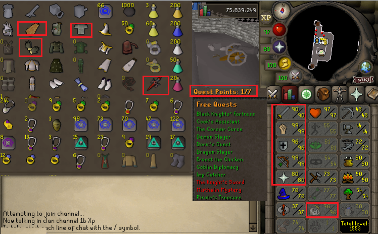 OSRS account combat level 119 ID#20201107SKY119