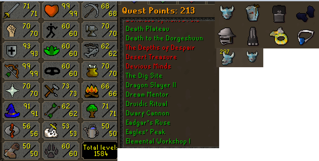 OSRS account Combat Level 104 ID#20201112SB104