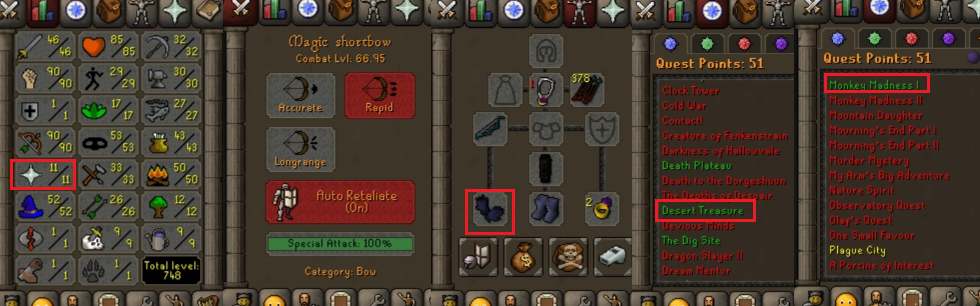 OSRS account special pure combat level 66 ID#20201015TD66